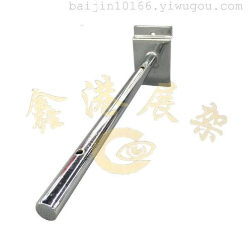 T piece round tube straight on the groove plate round tube glass display hook