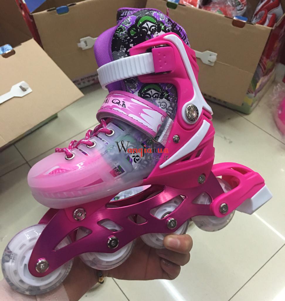 溜冰鞋四轮全闪轮滑鞋平花鞋男女款直排轮可调礼盒套装