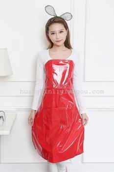 糖果多色PVC防水免系围裙懒人居家围裙厂家直销可定制LOGO
