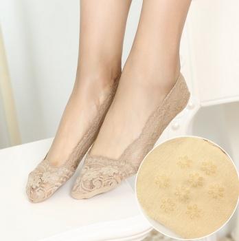 Summer silicone lace socks socks female shallow boat socks female thin antiskid socks