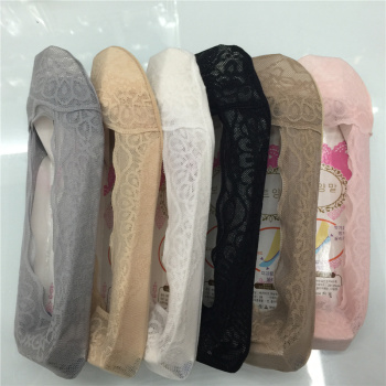 Wave super thin lace boat socks one lap glue invisible socks anti off silica gel cotton bottom boat socks