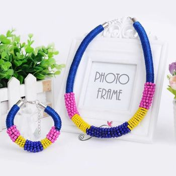 Crystal necklace bracelet set Europe and the United States exaggerated jewelry factory outlets