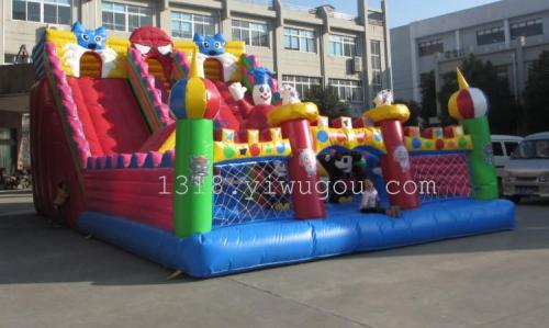 Manufacturers selling large inflatable castle slide jump bed trampoline naughty inflatable toys