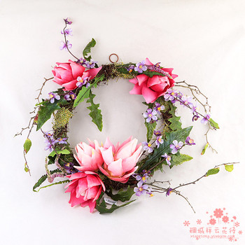 Artificial flower decorative flower silk flower wreath hanging fake mural Floral Wedding Flowers lintel