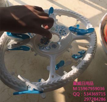 Circular frame hanger hanger plastic baby clothes hanger hanger clip children socks hanger tasteless