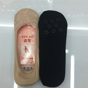 Xin Ao half lace socks socks socks silicone anti off contact