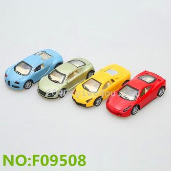 Yiwu children's toys wholesale tin toy car model car back