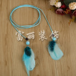 Color line on behalf of the feathers hanging lanyard shoes clothing headdress line with accessories