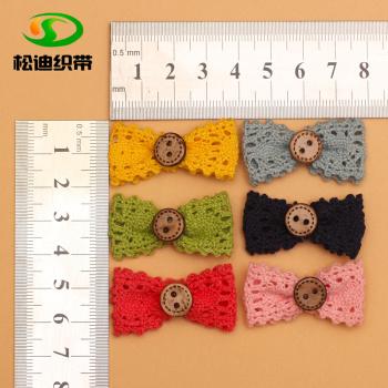Handmade children's cotton lace Button Butterfly hairpin toy socks children's children's accessories