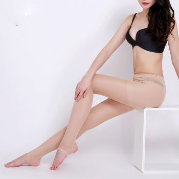 The new summer thin gas permeable contact foot extension elastic pantyhose woman