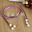 Color weaving woven with pearl pendant decorative shoes bag decoration