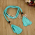 Cloth with tassels with woven belt with luggage belt shoes crafts accessories