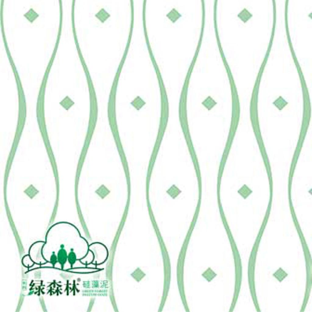 绿森林硅藻泥 环保天然零甲醛 背景墙 欧式花纹三