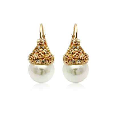ITALINA Vintage Jewelry Vintage Pearl Ear Stud Earrings