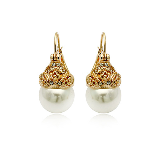 ITALINA Vintage Jewelry Vintage Pearl Ear Stud Earrings