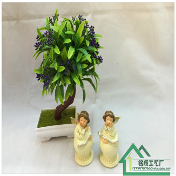 Factory direct resin Angel ornaments handmade painted decoration crafts Photo Props