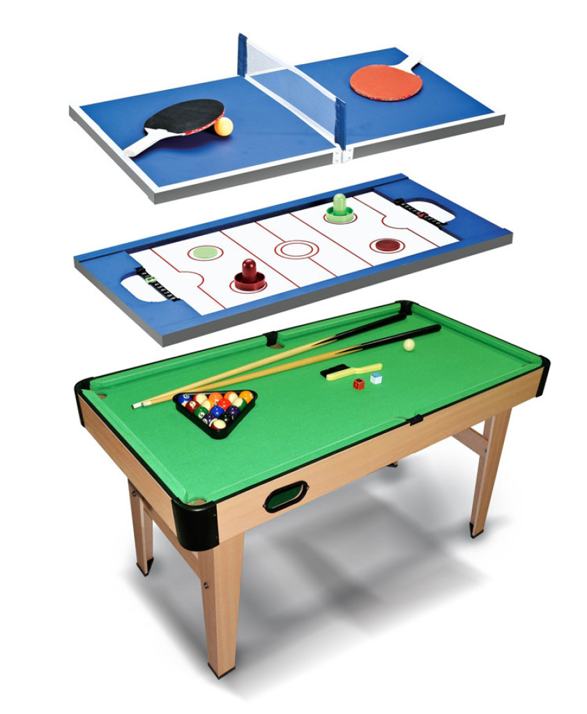 Snooker Billiard 9 Ball Three In One Billiard Table Adjustable Space A50991