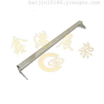 Single tail tube connecting rod connecting rod column A card rectangular pipe hanging rod metal hanging rod
