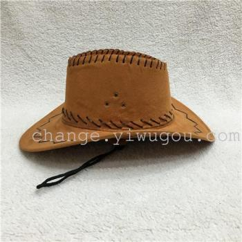 Wholesale suede cowboy hat leather cowboy hat Jazz jeans