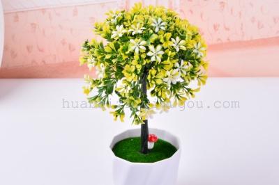 The simulation of plastic basin pisifera flower umbrella tree flowers flower ball live shooting props