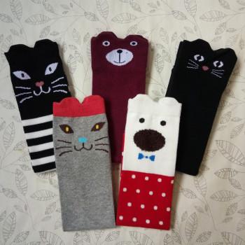 The children socks cotton socks girls stockings knee high socks baby solid socks stockings