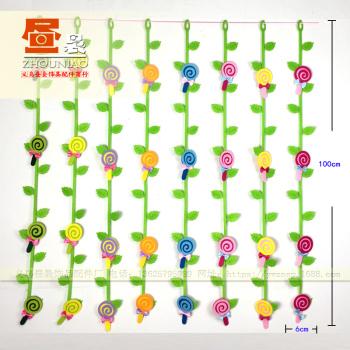 幼儿园环境布置挂饰吊饰 无纺布棒棒糖藤条 jg0095
