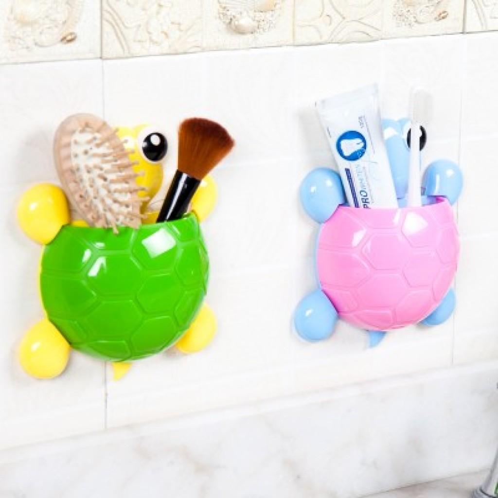 可爱乌龟强力吸盘牙刷架牙刷牙膏置物架卡通情侣牙具架