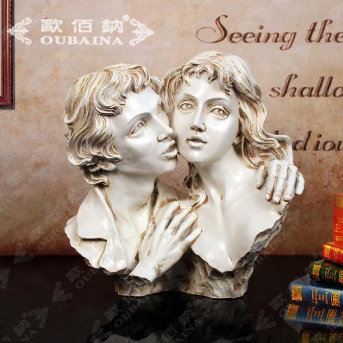 欧式古典人物树脂雕塑摆设酒店会所家居饰品艺术品摆件