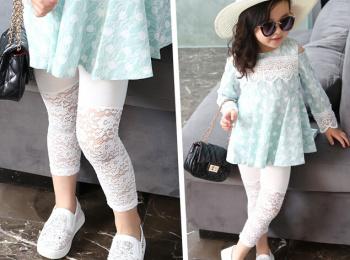 A thin summer full Lace Leggings wear slim slim jeans Korean lace openwork perspective nine pants