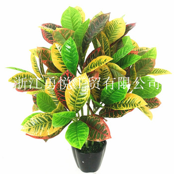 Interior decoration plant simulation with gold wood color double wood crafts such as Ficus plant simulation small bonsai