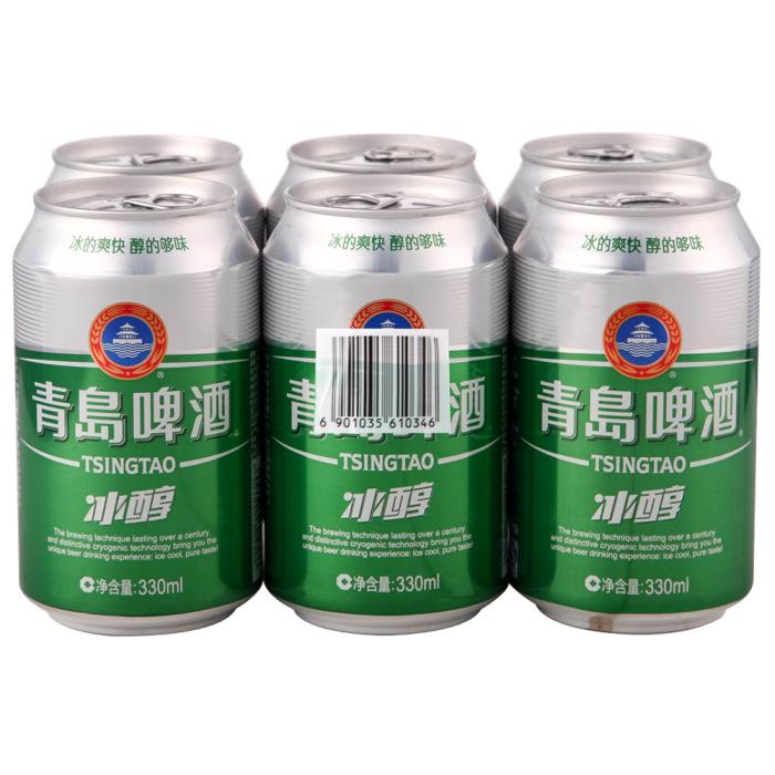 青岛啤酒 冰醇易拉罐330ml*6/组