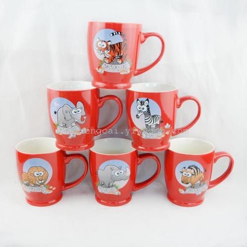 陶瓷卡通动物杯 广告促销水杯 涮口杯