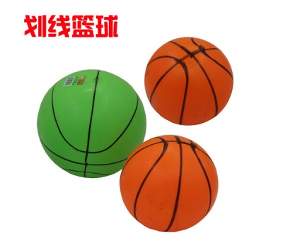 Thick PVC children's 9 inch line ball inflatable ball toys sporting goods
