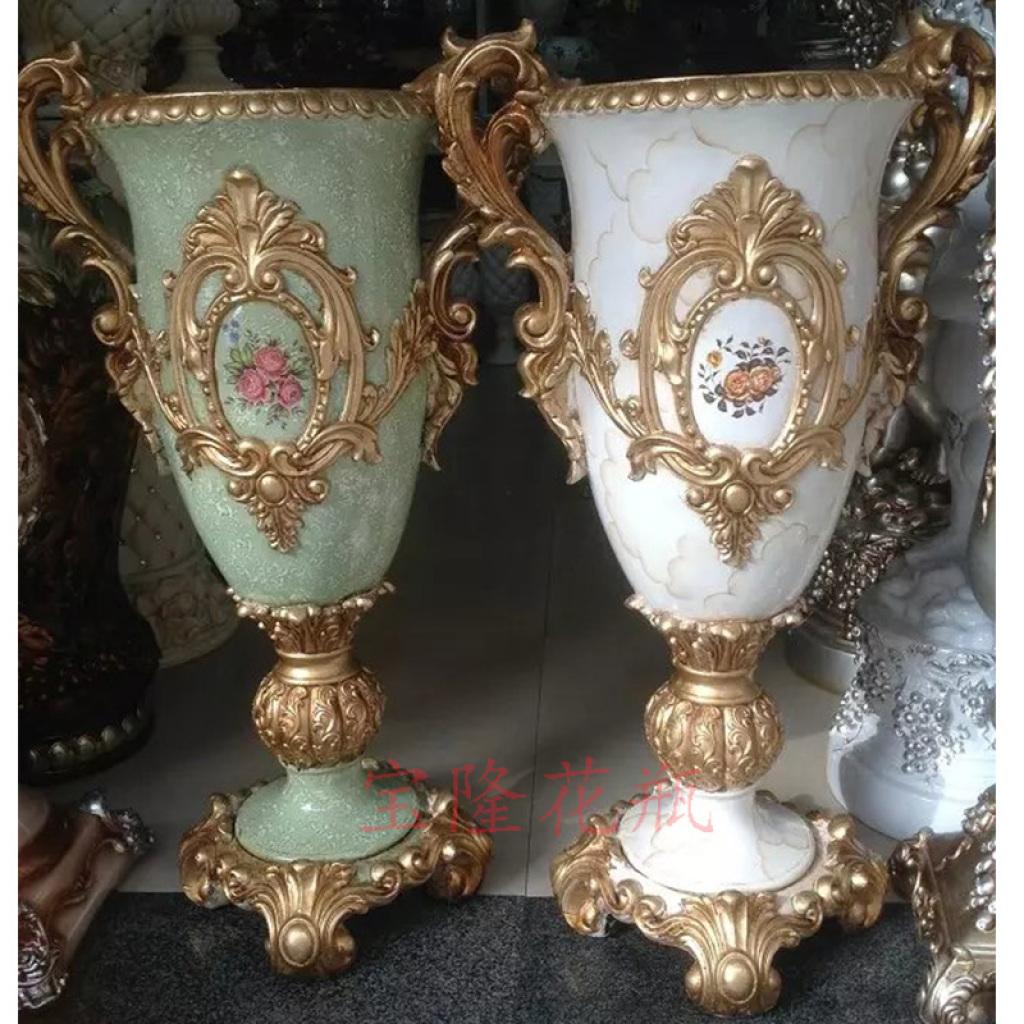 欧式落地大花瓶套装插花客厅装饰摆件家居饰品工艺品摆设