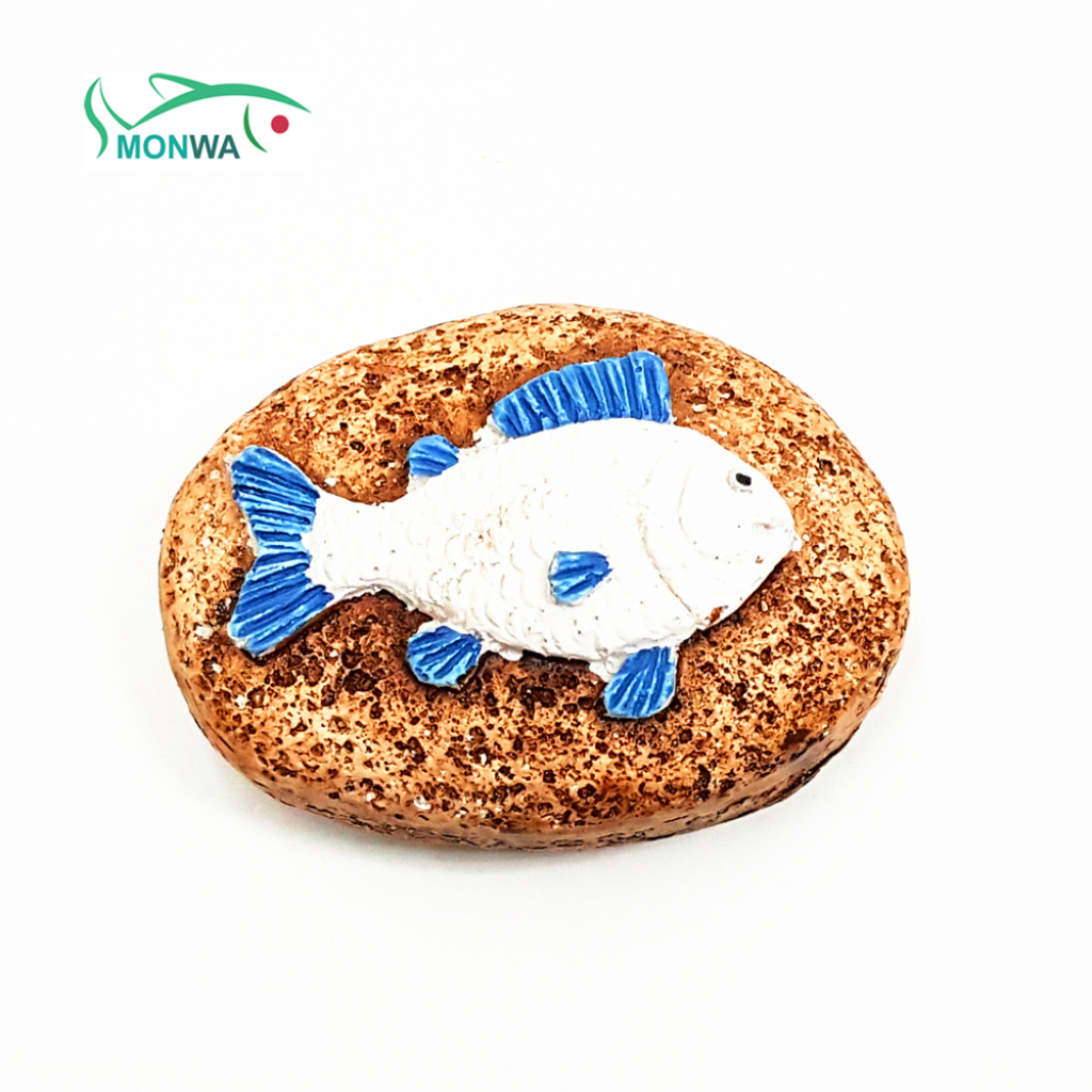 monwa萌娃 鱼缸造景 石头螃蟹海星海马鱼装饰品 树脂摆件