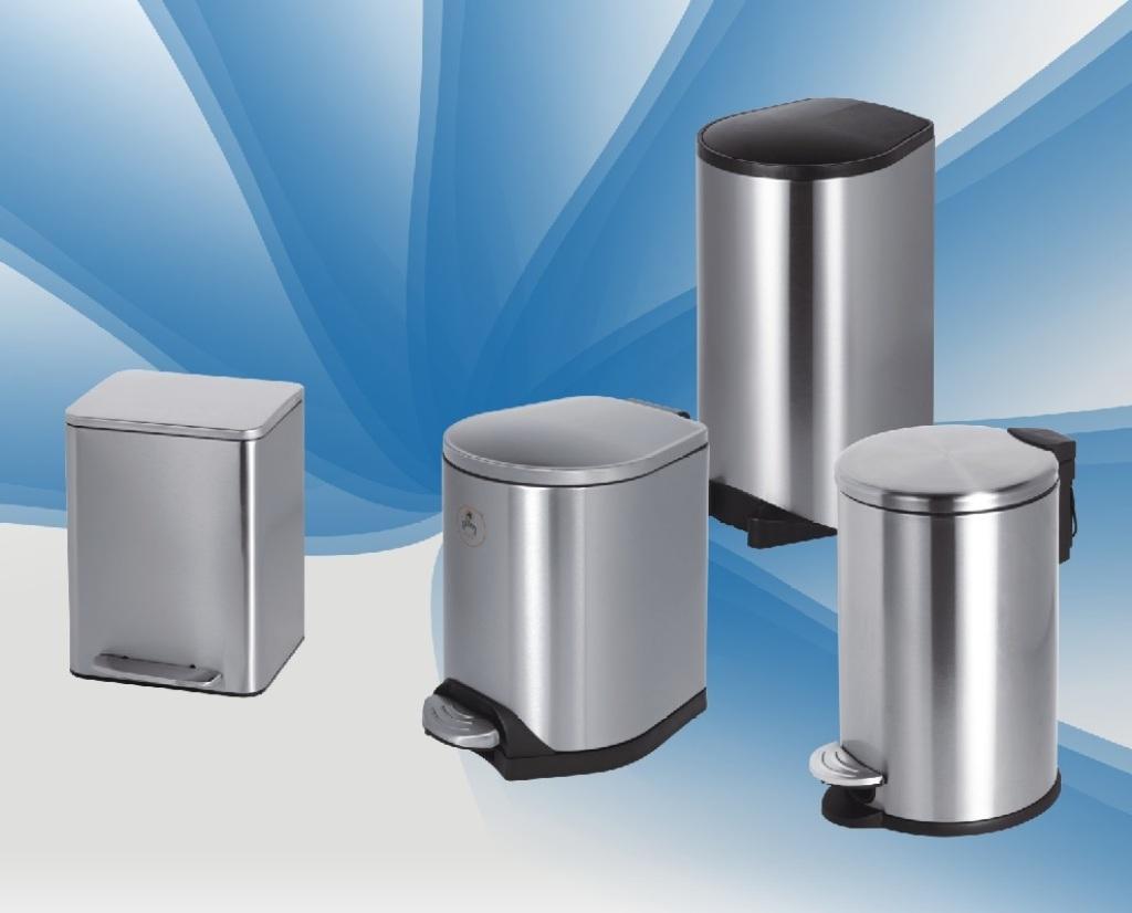 Supply Pedal type garbage matte stainless steel slow drop type anti ...