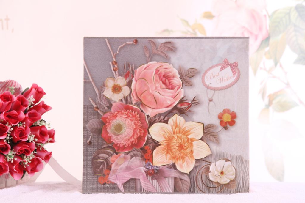 精美花朵影集6寸家庭盒装纪念相册 礼品diy图片