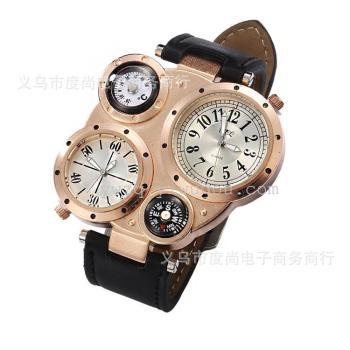 Europe's new dual movement compass quartz watch men's fashion table wholesale men's sports goods supply