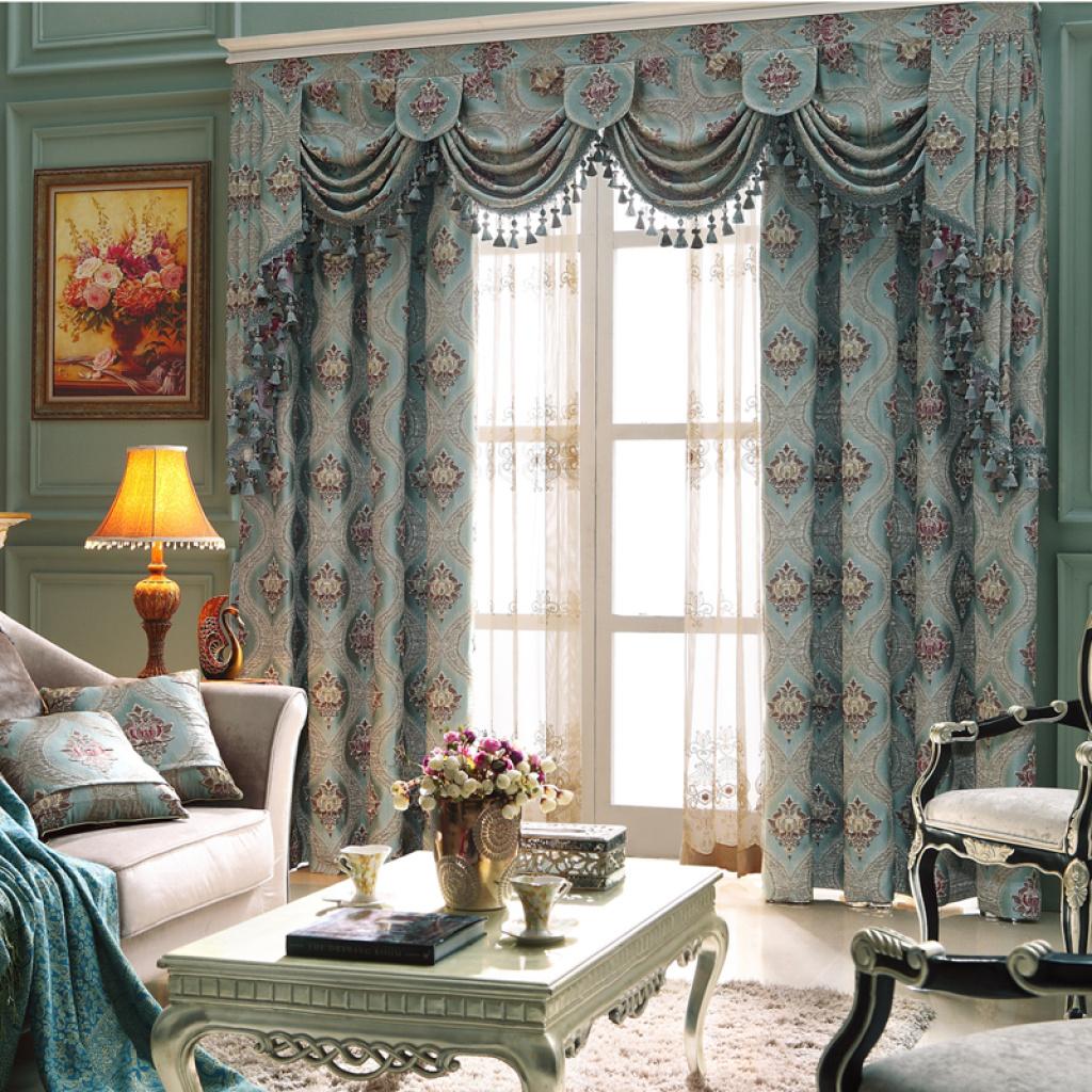 城市领秀窗帘布艺 高档窗帘定制 经典欧式风格 现代简约