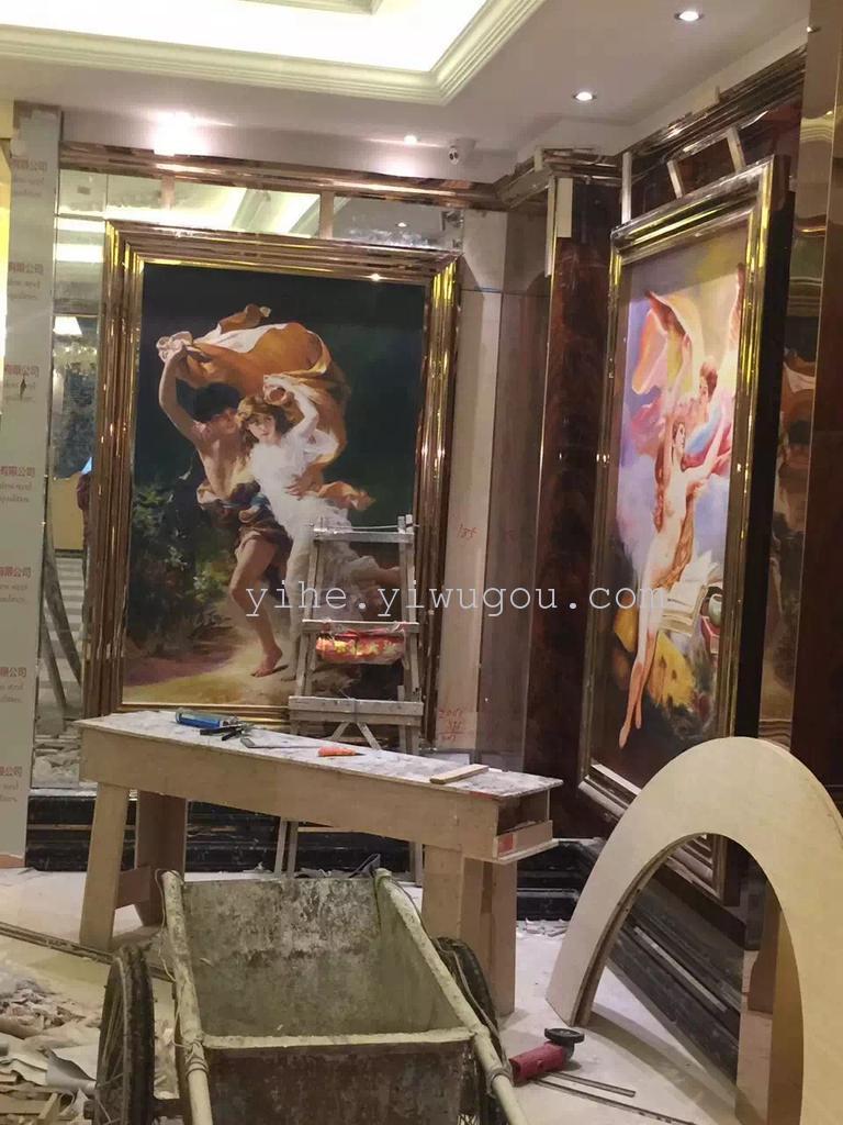 高清微喷壁画|欧式宫廷人物吊顶画面|背景强|防水背景
