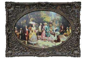 厂家直销欧式画框 经典装饰画 复古艺术框 圆形框712