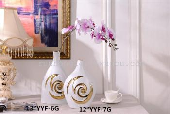 Hot explosion models of plated ceramic vases crafts ornaments simple fashion Home Furnishing