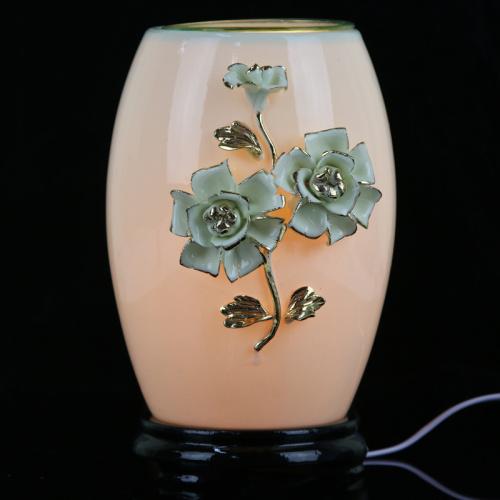 Ceramic ceramic lamp dual-purpose natural salt lamp decoration crafts Home Furnishing night light