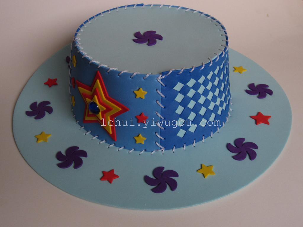 eva时尚编织帽子 diy儿童手工 编织制作