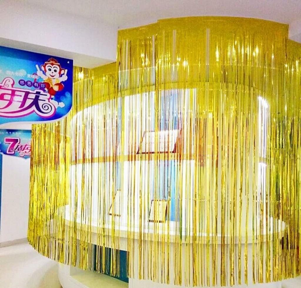 雨丝帘拉花装饰用品生日派对布置彩带活动舞台背景墙婚房