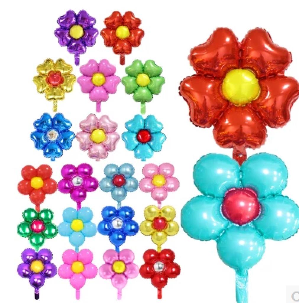 促销婚庆铝膜花朵圆形五瓣花心形五瓣花铝箔装饰背景墙