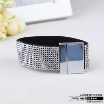 Full diamond bracelet with crystal diamond ultra wide Korea wide chain send girls