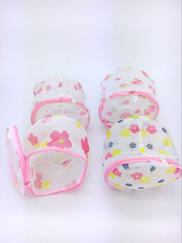 Printing mesh bag with double support bra washing laundry bag
