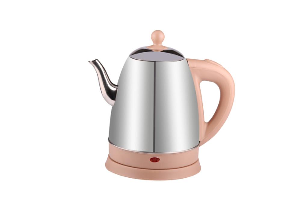 2.0l 不锈钢离盖咖啡色手柄电热水壶