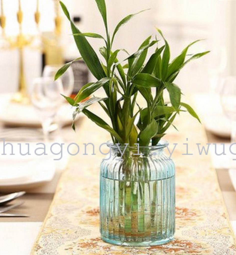 彩色玻璃花瓶 透明小花瓶 创意欧式花瓶